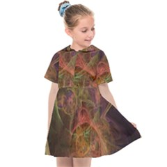 Abstract Colorful Art Design Kids  Sailor Dress