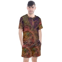 Abstract Colorful Art Design Men s Mesh Tee And Shorts Set