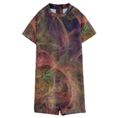 Abstract Colorful Art Design Kids  Boyleg Half Suit Swimwear by Nexatart