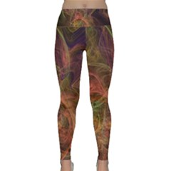 Abstract Colorful Art Design Lightweight Velour Classic Yoga Leggings
