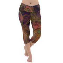 Abstract Colorful Art Design Lightweight Velour Capri Yoga Leggings