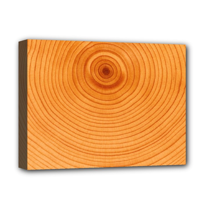 Rings Wood Line Deluxe Canvas 16  x 12  (Stretched)