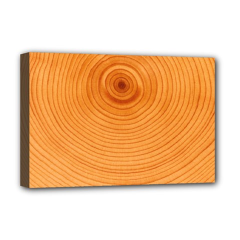 Rings Wood Line Deluxe Canvas 18  X 12  (stretched)