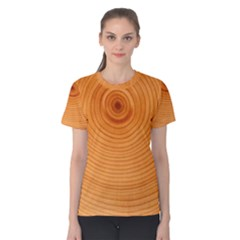 Rings Wood Line Women s Cotton Tee by Alisyart