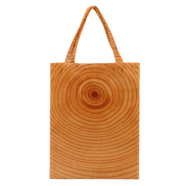 Rings Wood Line Classic Tote Bag