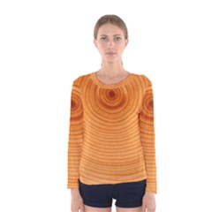 Rings Wood Line Women s Long Sleeve Tee