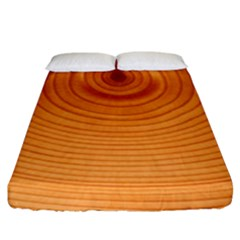 Rings Wood Line Fitted Sheet (king Size)