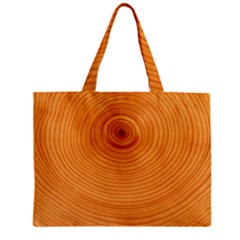 Rings Wood Line Zipper Mini Tote Bag