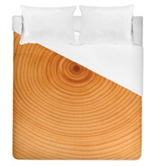 Rings Wood Line Duvet Cover (queen Size) by Alisyart