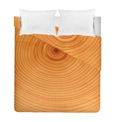 Rings Wood Line Duvet Cover Double Side (full/ Double Size) by Alisyart