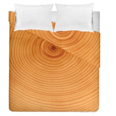 Rings Wood Line Duvet Cover Double Side (queen Size) by Alisyart