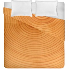 Rings Wood Line Duvet Cover Double Side (king Size) by Alisyart