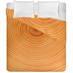 Rings Wood Line Duvet Cover Double Side (california King Size) by Alisyart