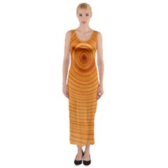 Rings Wood Line Fitted Maxi Dress