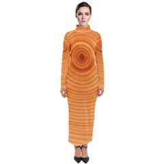 Rings Wood Line Turtleneck Maxi Dress