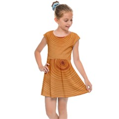 Rings Wood Line Kids Cap Sleeve Dress