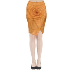 Rings Wood Line Midi Wrap Pencil Skirt