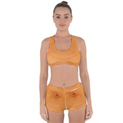 Rings Wood Line Racerback Boyleg Bikini Set