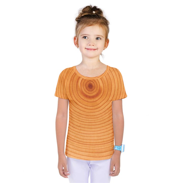 Rings Wood Line Kids  One Piece Tee