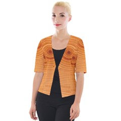Rings Wood Line Cropped Button Cardigan by Alisyart