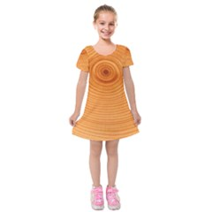 Rings Wood Line Kids  Short Sleeve Velvet Dress
