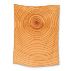 Rings Wood Line Medium Tapestry