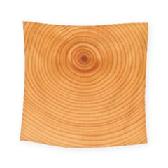 Rings Wood Line Square Tapestry (small)