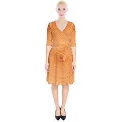 Rings Wood Line Wrap Up Cocktail Dress