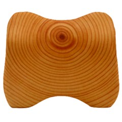 Rings Wood Line Velour Head Support Cushion by Alisyart