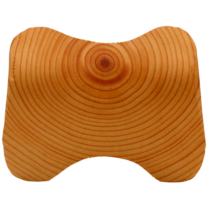 Rings Wood Line Head Support Cushion