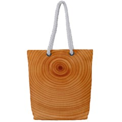 Rings Wood Line Full Print Rope Handle Tote (small) by Alisyart