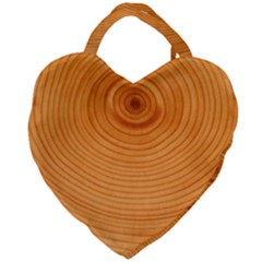 Rings Wood Line Giant Heart Shaped Tote by Alisyart