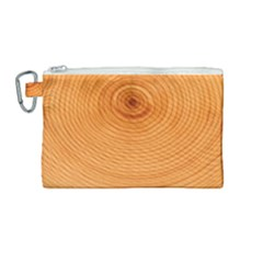 Rings Wood Line Canvas Cosmetic Bag (medium) by Alisyart