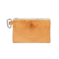 Rings Wood Line Canvas Cosmetic Bag (small) by Alisyart