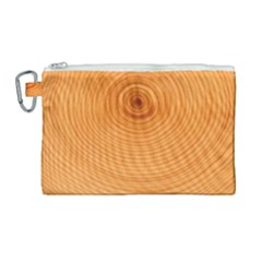 Rings Wood Line Canvas Cosmetic Bag (large)