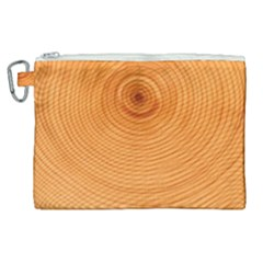 Rings Wood Line Canvas Cosmetic Bag (xl) by Alisyart
