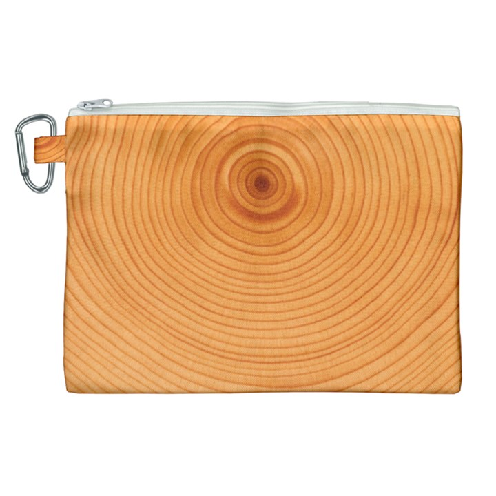 Rings Wood Line Canvas Cosmetic Bag (XL)