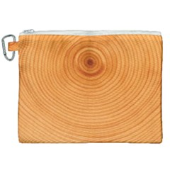 Rings Wood Line Canvas Cosmetic Bag (xxl) by Alisyart