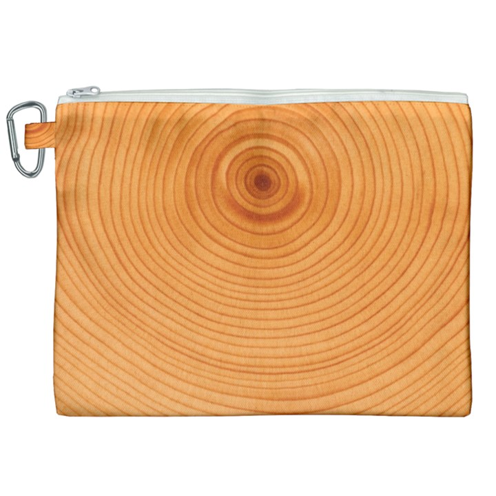 Rings Wood Line Canvas Cosmetic Bag (XXL)
