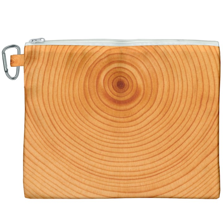 Rings Wood Line Canvas Cosmetic Bag (XXXL)