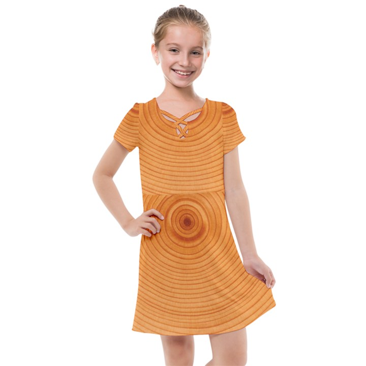 Rings Wood Line Kids  Cross Web Dress