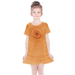 Rings Wood Line Kids  Simple Cotton Dress