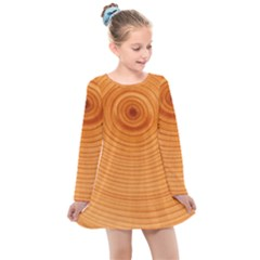Rings Wood Line Kids  Long Sleeve Dress