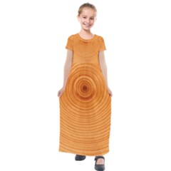 Rings Wood Line Kids  Short Sleeve Maxi Dress