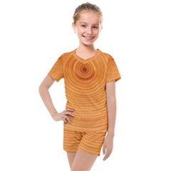 Rings Wood Line Kids  Mesh Tee And Shorts Set