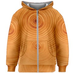 Rings Wood Line Kids Zipper Hoodie Without Drawstring