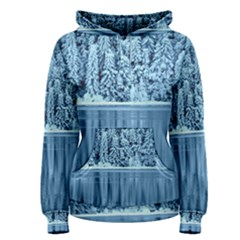 Snowy Forest Reflection Lake Women s Pullover Hoodie