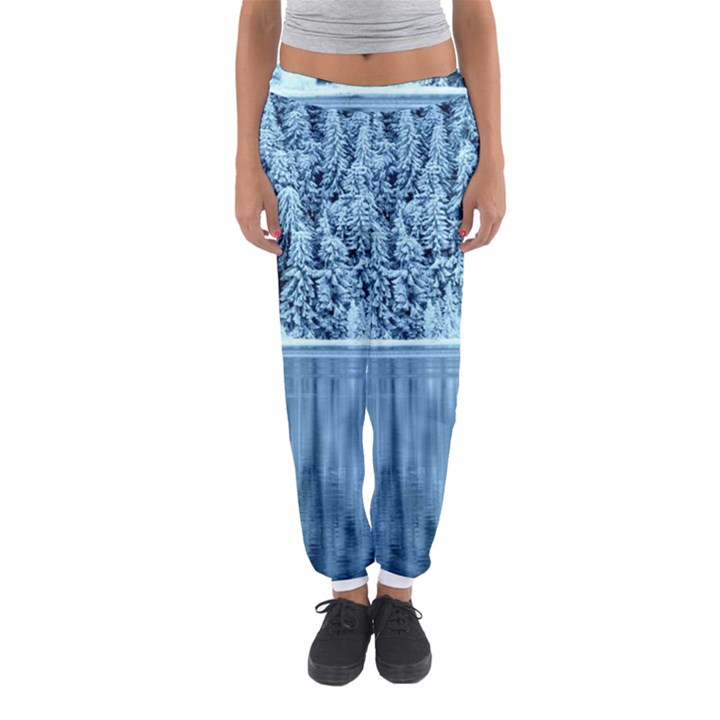 Snowy Forest Reflection Lake Women s Jogger Sweatpants