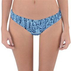 Snowy Forest Reflection Lake Reversible Hipster Bikini Bottoms