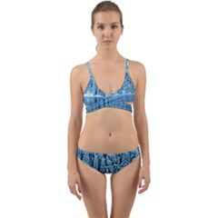 Snowy Forest Reflection Lake Wrap Around Bikini Set